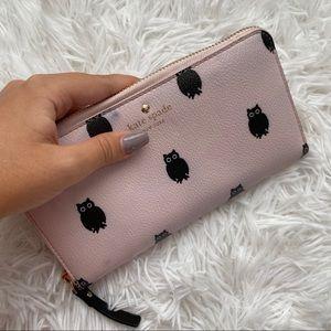 NWT⭐️ Kate Spade Pink Hawthorne Lane Owl Wallet